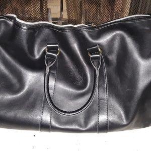 Black leather Ivanka Trump bag